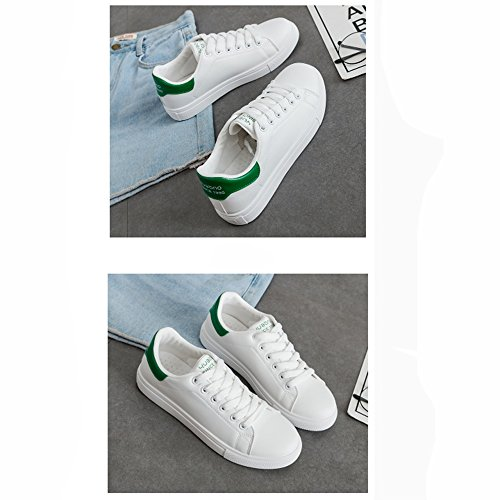 color Street Zapatos Ocio Style uk5 Lvzaixi Plate Small Eu38 Verde Shoes Negro 5 Beat Kong Hong White Tamaño Acogedor cn38 4qwFxz57E