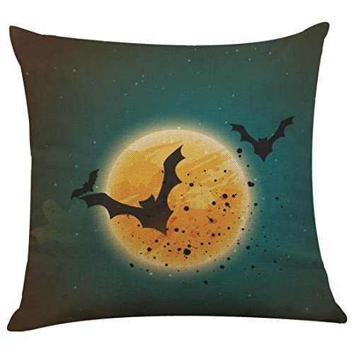 Gotd Halloween Pillow Covers Decorative Vintage Throw Pillow Case Cushion for Halloween Decorations Decor Clearance Cute Indoot Outdoor Festive Party Supplies (D) ()