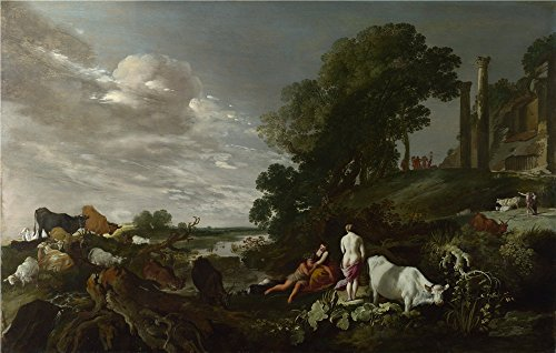 The Perfect Effect Canvas Of Oil Painting 'Moses Van Uyttenbroeck Landscape With Mythological Figures ' ,size: 18 X 28 Inch / 46 X 72 Cm ,this Amazing Art Decorative Prints (Halloween Costumes Rental Denver)