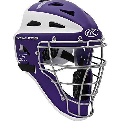 Rawlings Sporting Goods Youth Velo Series Catchers Helmet, Purple/White, 6 1/2-7