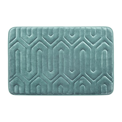 Bounce Comfort Extra Thick Memory Foam Bath Mat - Thea Premium Micro Plush Mat with BounceComfort Technology, 17 x 24 in. Marine Blue -  YMB003707