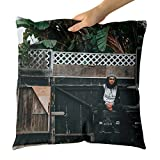 yankee garbage can - Westlake Art Decorative Throw Pillow - Person Bin - Photography Home Decor Living Room - 14x14in