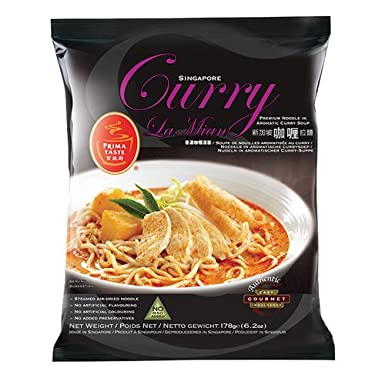 Prima Taste Singapore Curry La Mian (Noodle In Aromatic Curry Soup) 12packs