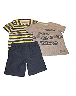 Carters Baby Boys 3 Piece Short Set, 5T