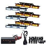 TargetEvo 54 LED Emergency Strobe Lights Kit Vehicle Bars Hazard Warning Deck Dash Grille