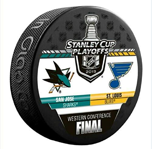 The Hockey Company 2019 Western Conference Final Puck Sharks VS. Blues Stanley Cup Playoffs PRE-Order Item – Shipping Begins May 14TH