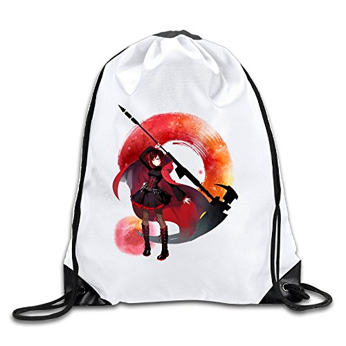 Rwby Crescent Sky Ruby Rose Logo Sports Drawstring Backpack For Men & Women