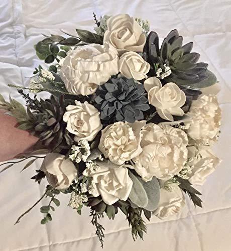 Gigi Forever Wedding Bouquet Ivory/Succulent ()