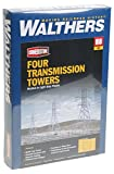 toy transmission - Walthers Cornerstone HO Scale Transmission Towers Structure Kit (Set of 4)