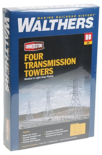 Walthers Cornerstone HO Scale Transmission Towers Structure Kit (Set of 4)