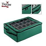 Tiny Tim Totes 83-DT5575 Premium | 48 Christmas Ornament Organizer Storage Box, Green