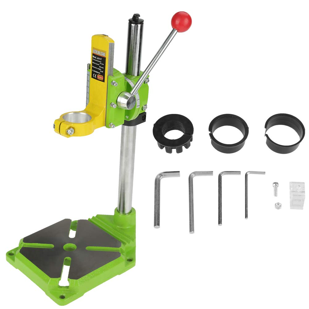 Akozon Electric Power Drill Press, Stand Table Drill Holder Work Station Rotary Guide Positioning Bracket Drill Workbench Repair Tools with 0-90 Degree Rotating Fixed Frame(exclude Flat-nose Vice) by Akozon