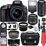 Nikon D5600 24.2 MP DSLR Camera AF-P DX 18-55mm and 70-300mm NIKKOR Zoom Lens Kit and Accessory Bundle For Sale