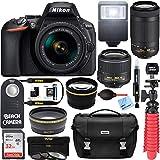 : Nikon D5600 24.2 MP DSLR Camera AF-P DX 18-55mm and 70-300mm NIKKOR Zoom Lens Kit and Accessory Bundle