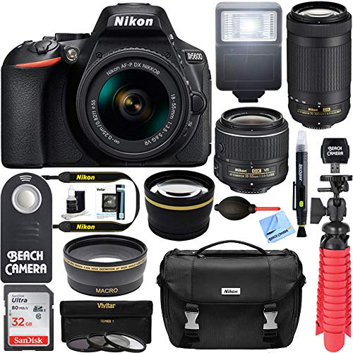Nikon D5600 24.2 MP DSLR Camera + AF-P DX...