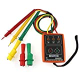 3 Phase Sequence Rotation Tester Indicator Detector Meter LED Buzzer with Portable Pouch TD-LED02 SM852B