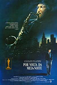 Round Midnight–Póster de la película brasileño 11x 17en–28cm x 44cm Dexter Gordon Lonette McKee Francois Cluzet Martin Scorsese Herbie Hancock Sandra reaves-phillips