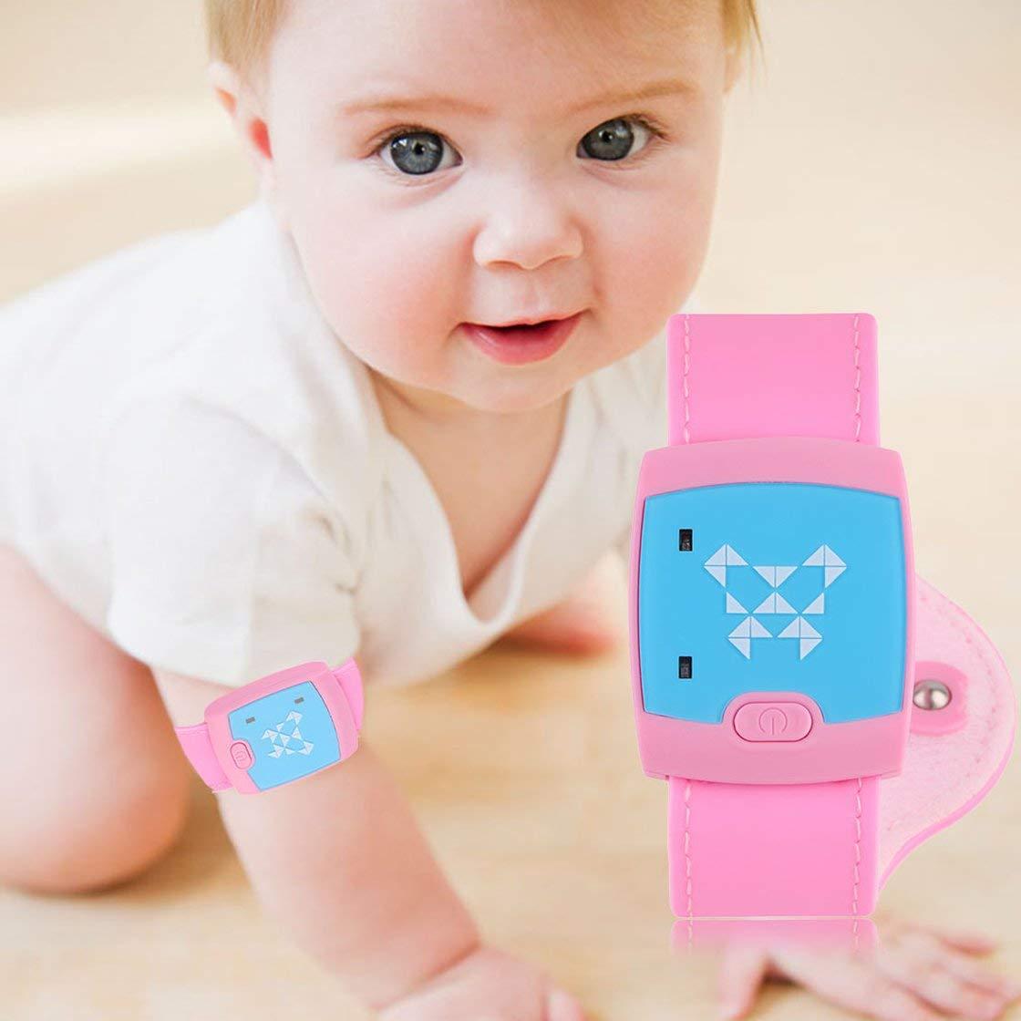 Laurelmartina en Stock !/Nuevo Monitor de Salud Pulsera term/ómetro Inteligente de Bluetooth para beb/é Infante