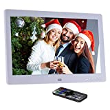 "Andoer 10"" HD Wide Screen LCD Digital Photo Picture Frame High Resolution 1024*600 Clock MP3 MP4 Video Player with Remote Control for Birthday Gift Present"