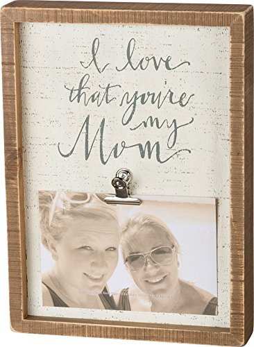 "Primitives by Kathy Distressed Box Sign, 8"" x 11"", Inset - I Love That You"