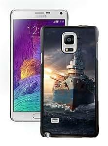 World Of Warships Wargaming Net Explosion Ships Black Durable Hard Shell Samsung Galaxy Note 4 Phone Case