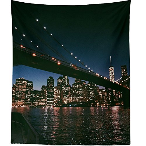 Westlake Art - City Urban - Wall Hanging Tapestry - Picture Photography Artwork Home Decor Living Room - 68x80 Inch (6ECA2) ()