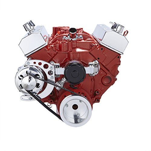 Chevy Small Bock Serpentine Conversion - Alternator Only Applications, Electric Water Pump by CVF Racing