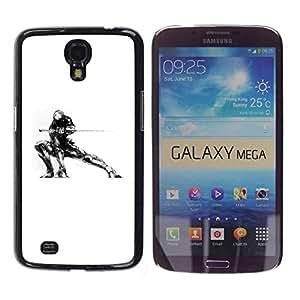 Carcasa Funda Prima Delgada SLIM Casa Case Bandera Cover Shell para Samsung Galaxy Mega 6.3 I9200 SGH-i527 / Business Style Samurai Mech Warrior