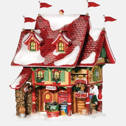 Department 56 North Pole Reindeer Flying Feed Store