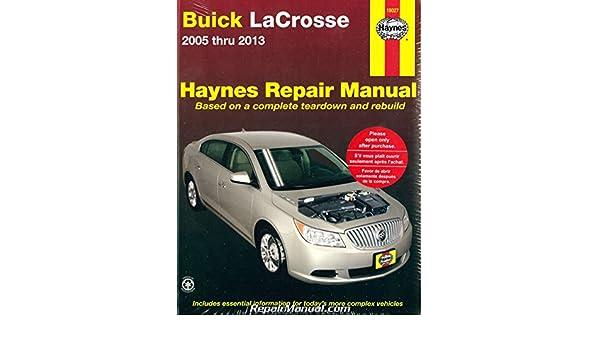 h19027 buick lacrosse 2005 2013 haynes repair manual manufacturer rh amazon com 2007 buick lacrosse repair manual download 2007 buick lacrosse repair manual download