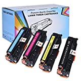 4 Pack - Proosh Compatible Toner Cartridge Set for HP (CF380X, CF381A, CF383A, CF382A) Black, Cyan, Magenta, Yellow, 312A, 312X, Non OEM; for use in Compatible Printers: HP Color LaserJet MFP M476dw, Color LaserJet MFP M476dn, Color LaserJet MFP M476nw