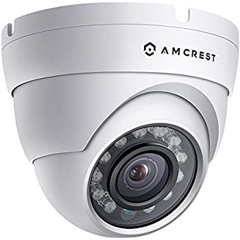 Amcrest ProHD Outdoor 1080P POE Dome IP Security Camera - IP67 Weatherproof, 1080P (1920 TVL), IP2M-844E (White)
