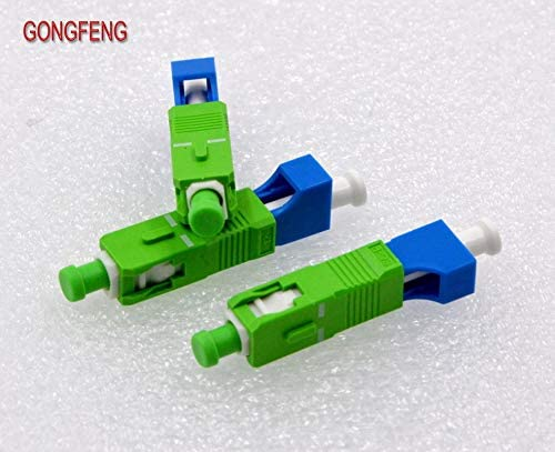 Sc//Apc Male Optical Fiber Connector Flange Adapter Coupler Color:Sm9 125; Connector Type:Optical Fiber; Insert Type:Male Insert 10Pcs Lc//Pc Female Stock-Home