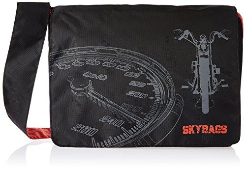 Skybags Fabric Black Messenger Bag (Black) (LPSCOMRBLK)