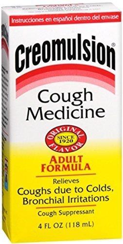 Creomulsion Cough Medicine Adult Formula 4 oz (Pack of 5) (Best Cure For Cough)