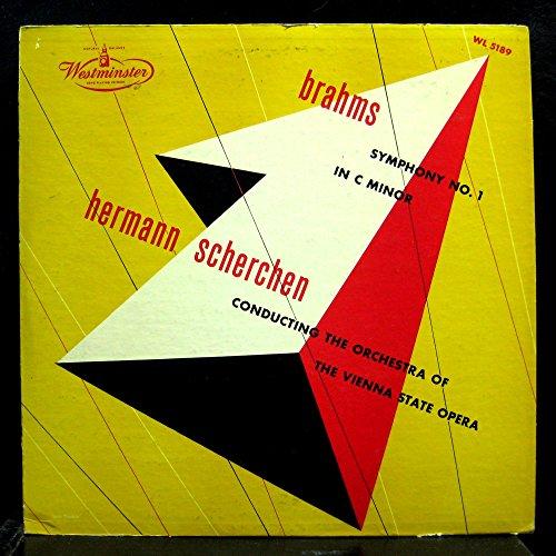SCHERCHEN brahms symphony no 1 LP Mint- WL 5189 Vinyl 1953 Westminster USA - 1953 Mint