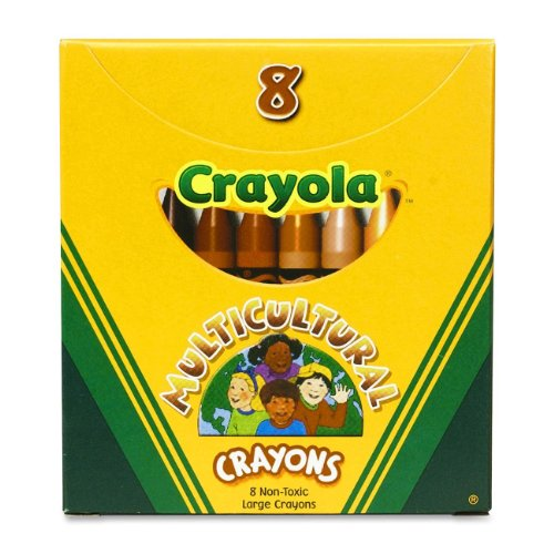 Binney & Smith Crayola(R) Multicultural Large Crayons, Assorted Specialty Colors, Box Of 8