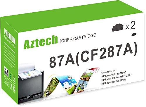 Aztech 2 Pack 9,000 Page Yield Black Toner Cartridge Repl...
