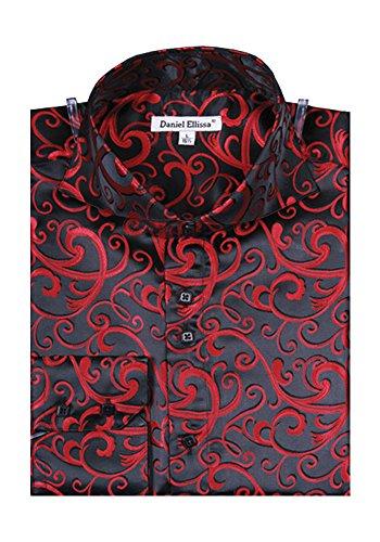 Fancy Dress Male (Men's Fancy Dress Shirt - Black/Red XL)