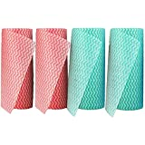 CLEAN LEADER Reusable Cleaning Wipes Disposable Dish Cloth Dish Towels Dish Rags Handi Wipes Reusable Cloths 50 Count/Roll,4 Rolls one Pack,Dry Quickly, Absorbent