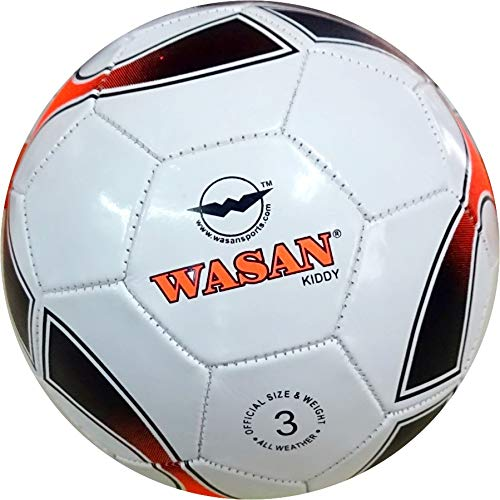 Wasan Kiddy Football Size 3 White  Under 8 Years