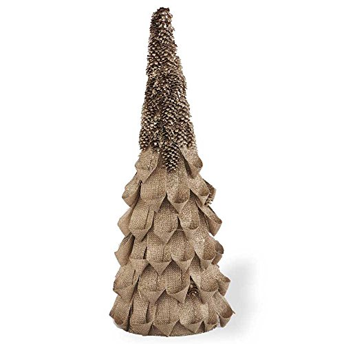 Linen Loop Topiary with Pinecone Top (Pinecone Topiary)