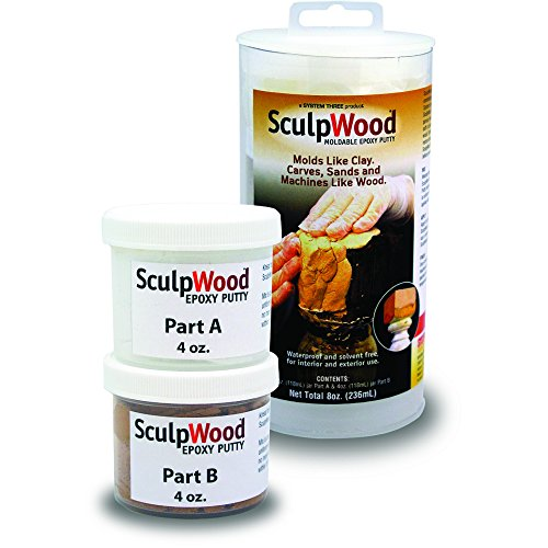 System Three 1600K10 Brown SculpWood Putty Kit, 8 oz. Tubes