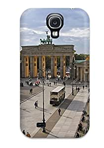 New Premium Flip Case Cover Berlin City Skin Case For Galaxy S4