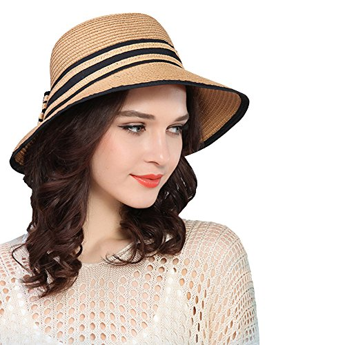 kekolin Fashion Classic Womens Foldable Sun Beach Straw Hats accessories 48d2e4773e87