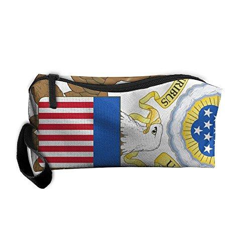 (Yangll West Virginia State Flag Portable Cosmetic Makeup Bag Waterproof Makeup Cosmetic Brush Organizer Zipper Organizer Travel Set Tote Bag)