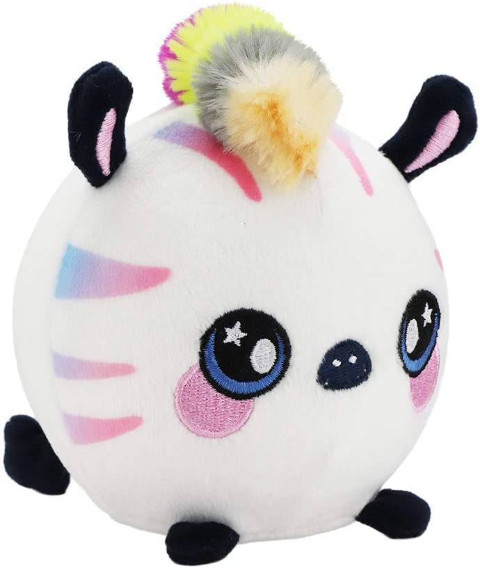 Adorable! Squeezamals Series 2-3.5 Super-Squishy Slow Rise Scented Foam Stuffed Animal Soft Cute Squeezable Zachry Zebra