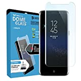 Dome Glass Galaxy S8 Screen Protector, Full Coverage 3D Curved Tempered Glass Shield [NO UV Light Included] Easy Install by Whitestone for Samsung Galaxy S8 (2017) - Replacement Only