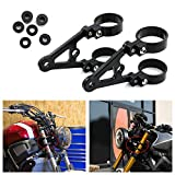 """53mm CNC Mount Headlight Brackets for Front Fork Tubes for 7"""" or 5.75"""" Round Headlight (53mm)"""