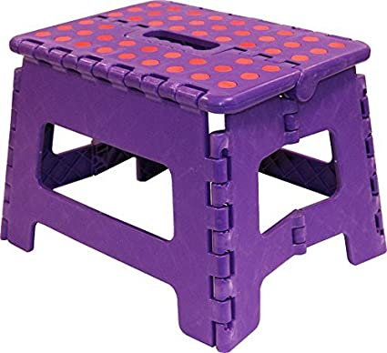 Krevia Brand New Heavy Duty Folding Step Stool with Anti Slip Dots and Strong Support Ladder for Adults and Kids( Colour May Vary)